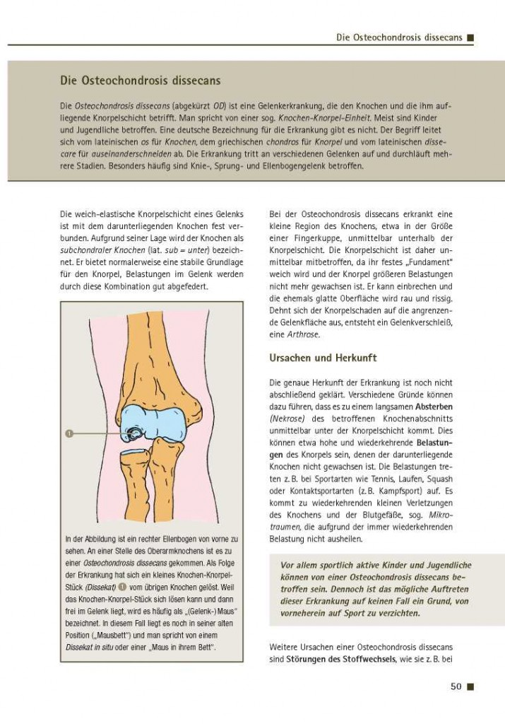 Die Osteochondrosis dissecans