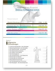 Orthopädie für Patienten - Inhaltsverzeichnis